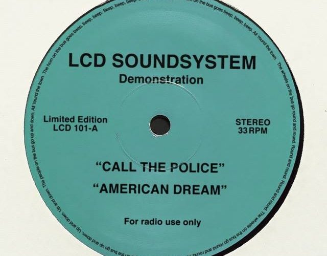 lcd soundsystem - vinyl cover - call the police